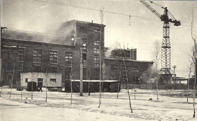 Фотомарафон «100-летие ТАССР»: достраивается Заинский сахарный завод, начало 1960-х