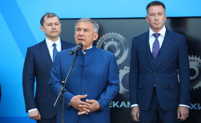 Рустам Минниханов: «Я хотел бы поблагодарить Группу ТАИФ за такие проекты. 11,3 млрд рублей инвестиций!»