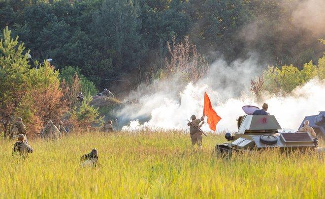 «Граница помнит»: в Нижнекамске прошла реконструкция боя ВОВ