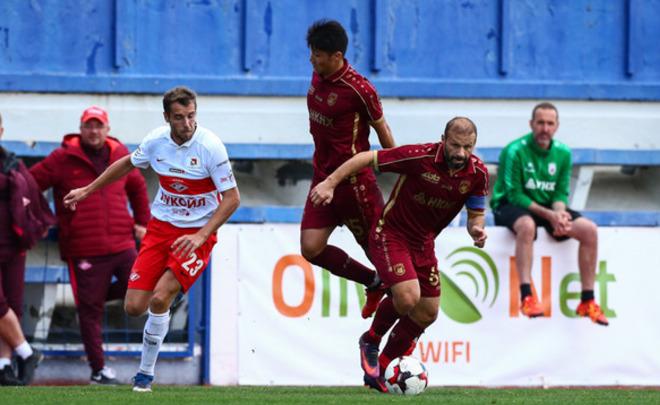 «Рубин» вконтрольном матче переиграл «Спартак»