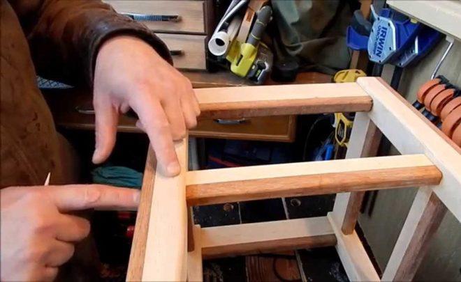 Как сделать ножки табуретки