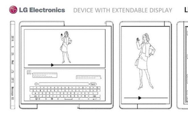 LGзапатентует разработанный раздвижной игибкий экран