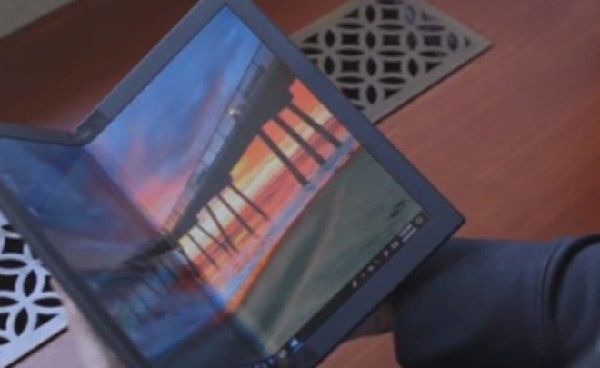 Lenovo продемонстрировала первый в мире ноутбук с гибким экраном
