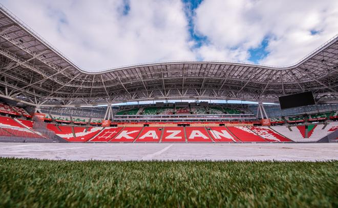 ВКазани квизиту уполномченных ФИФА берегут газон