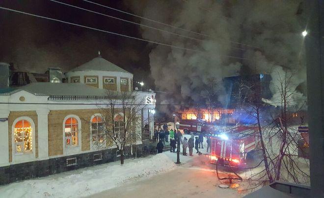 МЧС: первопричиной пожара вчистопольском универмаге мог стать поджог