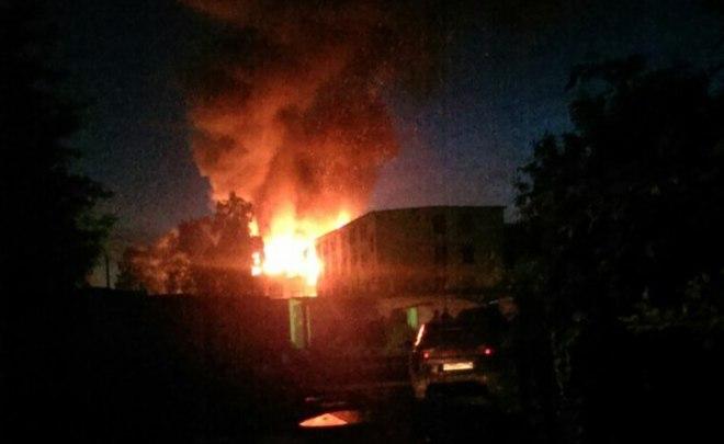 ВКазани снова горело бывшее артиллерийское училище
