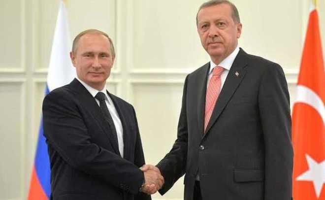 Встреча В. Путина иЭрдогана