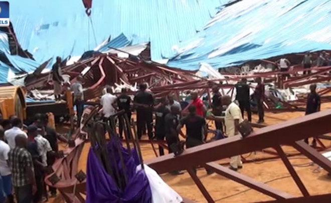При обрушении крыши церкви вНигерии погибли 60 человек