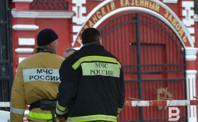 ВКазани произошел пожар напороховом заводе