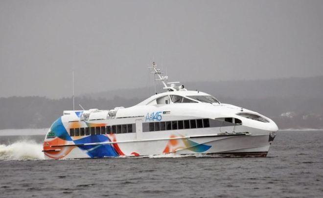 Праздничный спуск наводу высокоскоростного судна проекта А145