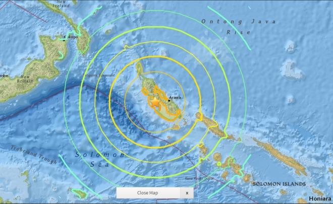 Землетрясение силой 8,0 случилось вПапуа— новейшей Гвинее