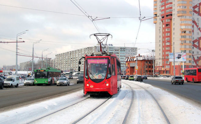 ВКазани из-за ледяного дождя нарушено движение трамваев итроллейбусов