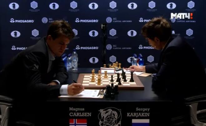 Вничью завершилась  3-я  партия матча зазвание чемпиона мира пошахматам