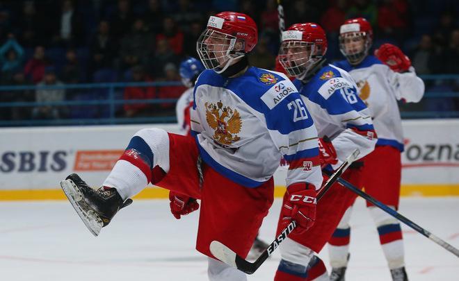 Юношеская сборная РФ  похоккею сыграет сословаками в ¼ финалаЧМ