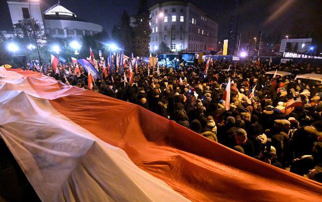 Польская милиция применила газ против манифестантов вВаршаве