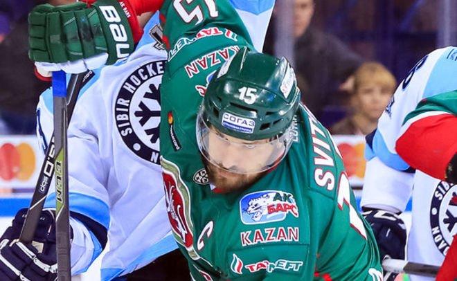 «Сибирь» разгромила казанский «АкБарс» вматче КХЛ