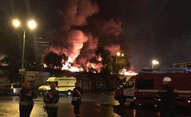 8 пожарных пропали без вести впожаре в столице — МЧС