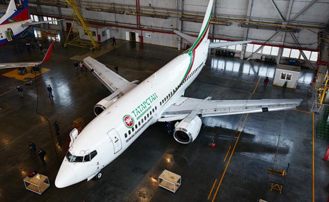 Самолет авиакомпании «Татарстан» реализуют поцене автомобиля