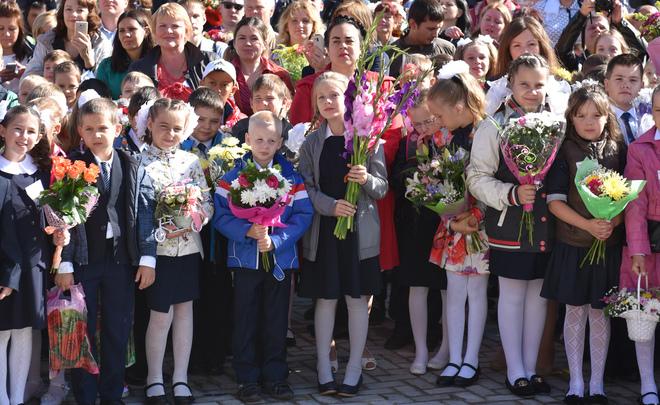Число школьников в РФ вновом учебном году вырастет на млн человек