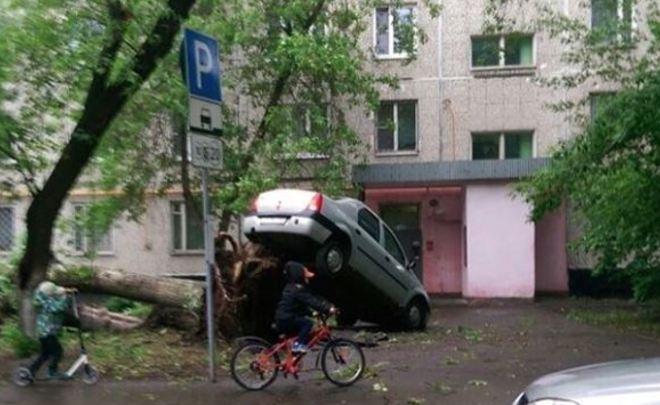 В Москве автолюбители устроили масштабную распродажу поврежденных во время урагана машин
