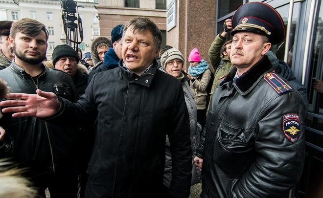 Одного изорганизаторов протестных акций клиентов Татфондбанка задержала милиция