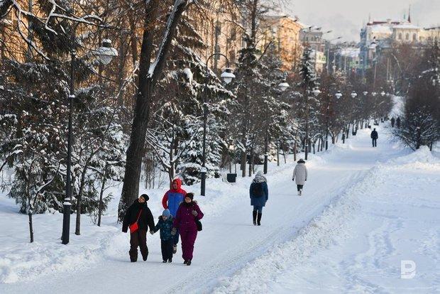Сегодня в Татарстане температура опустилась до -33 градусов