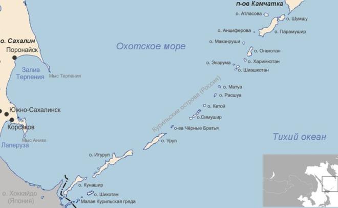 5 безымянных островов Курил назвали вчесть граждан России