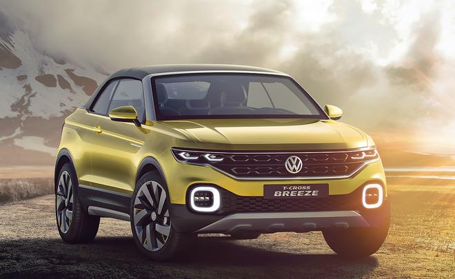 Volkswagen покажет в 2018 году новый компактный кроссовер с открытым верхом
