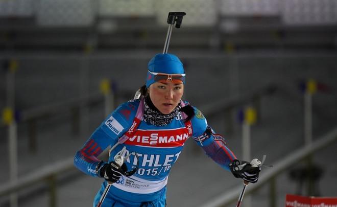 Вбиатлонной гонке преследования Татьяна Акимова взяла бронзу