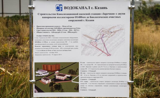 Канализационную станцию «Заречная» вКазани могут запустить вIV квартале 2017 года