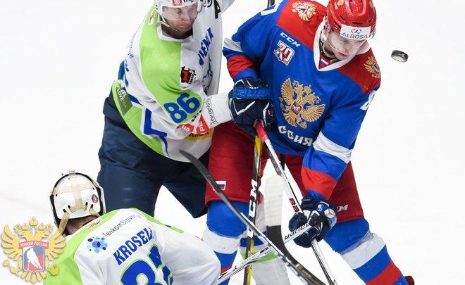 Хоккеисты «Сибири» отличились заброшенными шайбами всоставе олимпийской сборной Российской Федерации