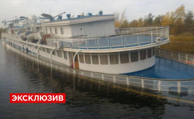 Назаводе вМарий Эл впроцессе ремонта затонул теплоход