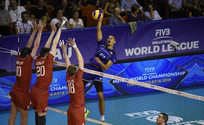 Волейболисты сборной Франции победили американцев вматче Мировой лиги