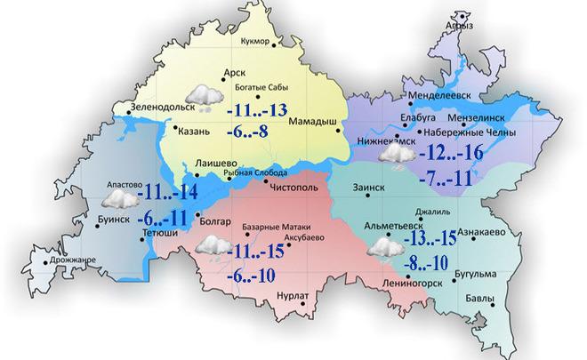 ВКазани предполагается метель сухудшением видимости до 1 000 м