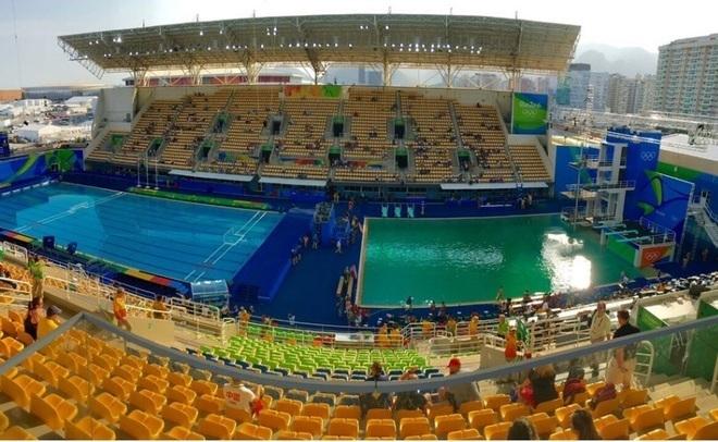 ОрганизаторыОИ дали новое разъяснение позеленевшей воды вбассейне для прыжков