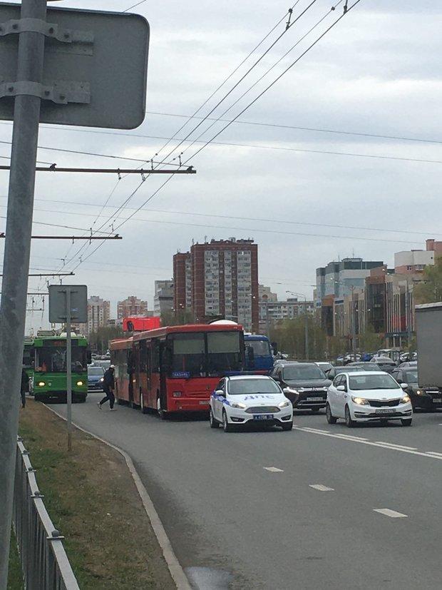 В Казани произошло ДТП с автобусами — фото