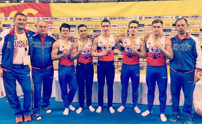 Российские гимнасты победили в командном турнире на этапе КМ в Германии