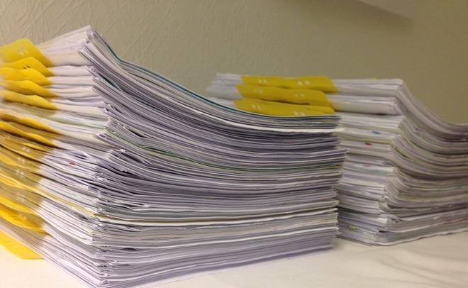 В РФ к 2019 хотят ввести запрет наприем бумажной отчетности