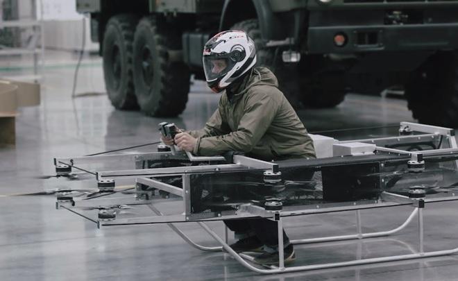 «Калашников» продемонстрировал  видео стестированием «летающего мотоцикла»