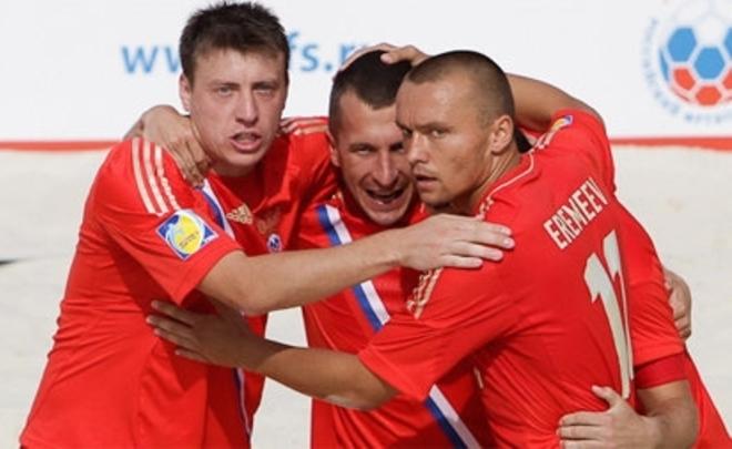 Сборная Российской Федерации попляжному футболу разгромила команду Германии вотборе кЧМ