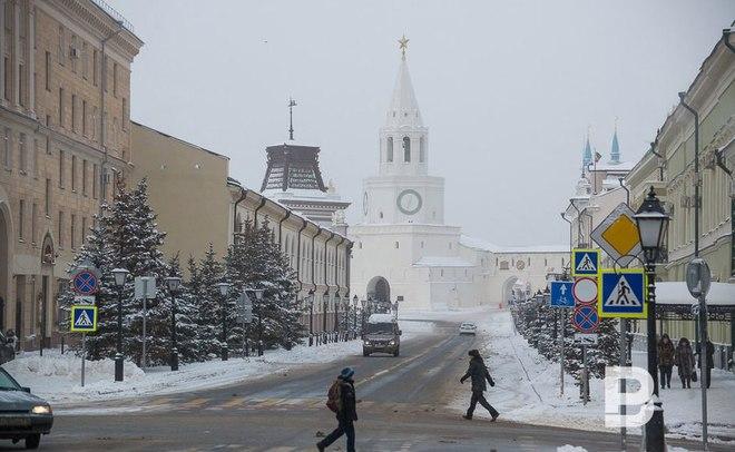 Атлантический циклон вТатарстане: мокрый снег, метель игололед
