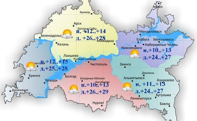 9 мая в Татарстане воздух прогреется до 29°С