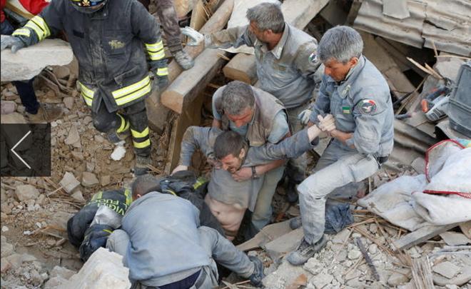 Жуткое имасштабное землетрясение вИталии: количество жертв может превысить 300 человек