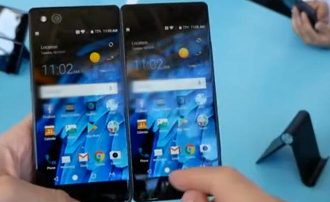 Компания ZTE представила необычайный смартфон с 2-мя экранами