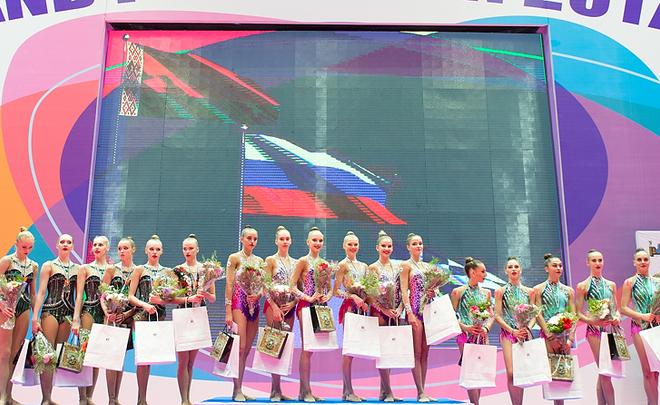 Россиянки победили в групповом многоборье на ЧМ по художественной гимнастике в Италии